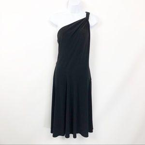 Lauren Ralph Lauren Dress One Shoulder Black